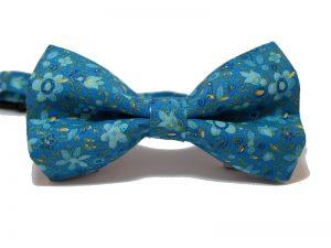pajarita-azul-flores